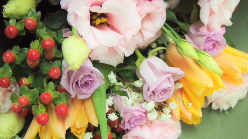 【誕生日】トルコキキョウ季節の花束