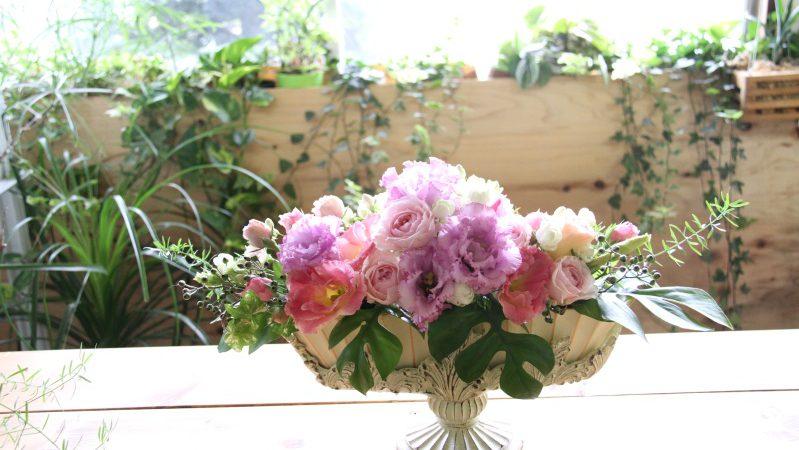 【結婚祝い】ピンクのアレンジメント