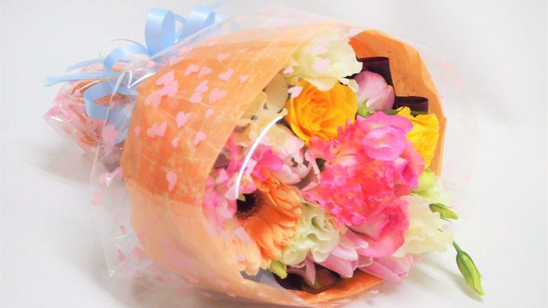 【誕生日】かわいいラッピング花束