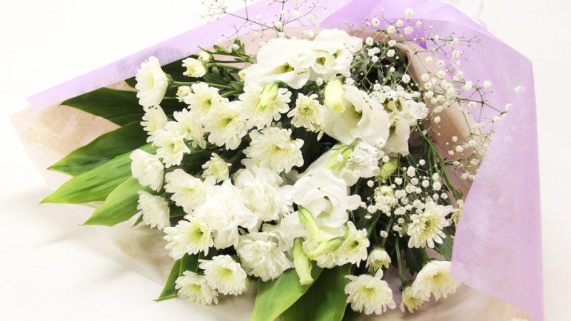 【お供え】清楚な白い花束
