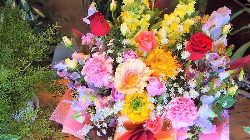 【お祝い事】お花ミックスアレンジメント
