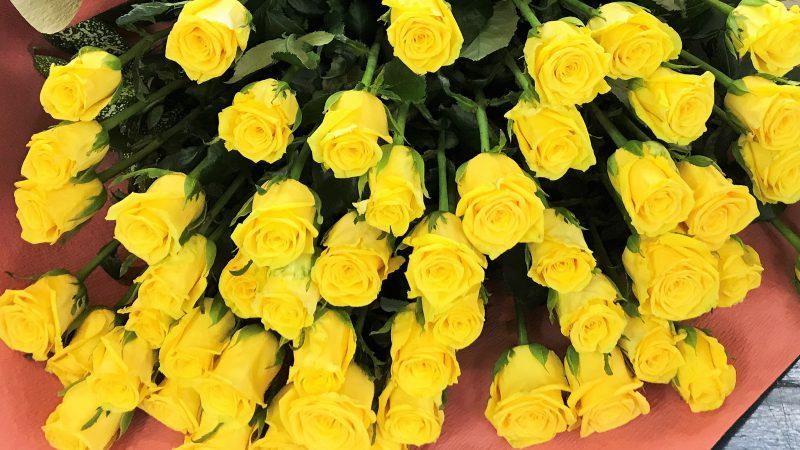 【男性向け】黄色いバラの花束