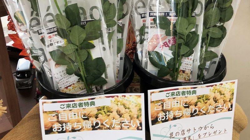 「花のある週末」をプレゼント! 花の店サトウ×福島トヨタ福島笹木野店【WEEKEND FLOWER 企画】