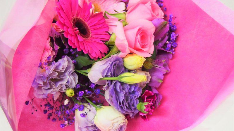 【誕生日】ビビットカラーの花束