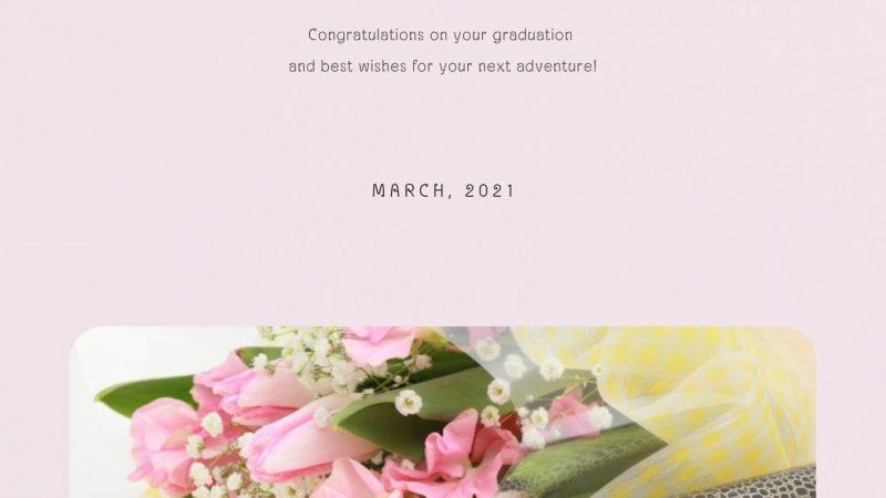 卒業お祝いの花 予約承り中です!