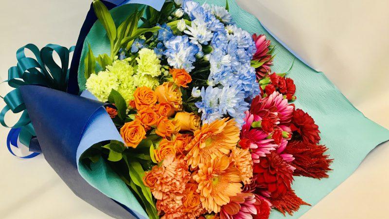 福島ユナイテッドFC 石堂選手の引退に際し、スタンド花と花束を作らせていただきました